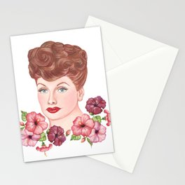 Floral Lucille Ball Stationery Cards