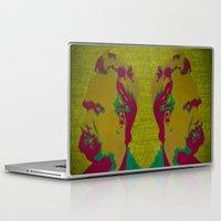 nietzsche Laptop & iPad Skins featuring Friedrich Nietzsche by AngelaCorrin