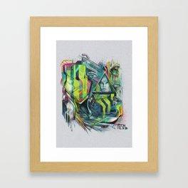 Slobbering Framed Art Print