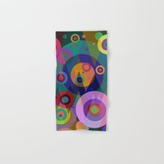 Abstract #507 Triangles & Circles Hand & Bath Towel
