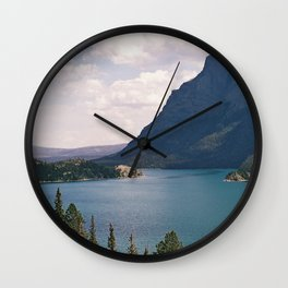 Sun Point, Glacier National Park, 35mm Wall Clock