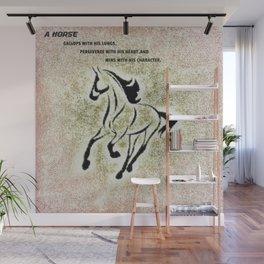 Horse Saying Wall Mural