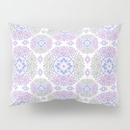 Delicate lace lilac and grey pattern . Pillow Sham