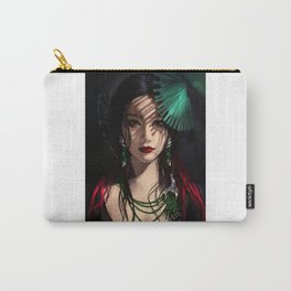 Portrait asian girl Carry-All Pouch