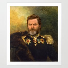 Nick Offerman Classical Painting Photoshop Art Print