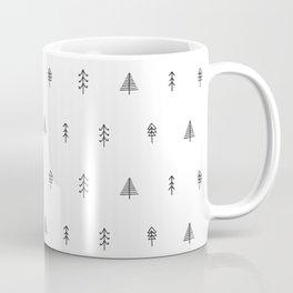 Whimsical Christmas Trees - Black Coffee Mug