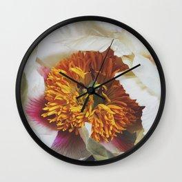 Spring Peony Wall Clock