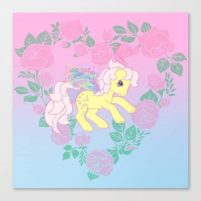 g1 my little pony flutter queen rosedust Canvas Print by gertee