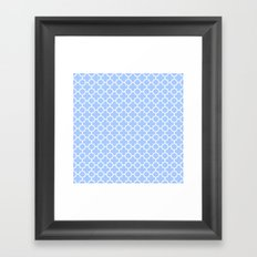 Pale Blue Moroccan Style Design Framed Art Print