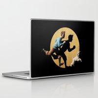 tintin Laptop & iPad Skins featuring tin tin advanture by aleha