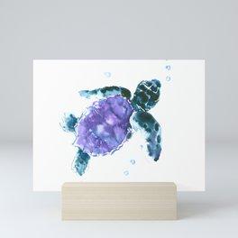 Sea Turtle baby nursery design Mini Art Print