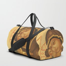 Orthodox Icon of Virgin Mary and Baby Jesus Duffle Bag