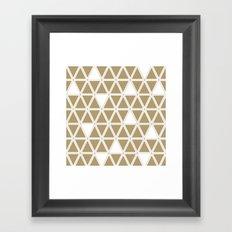Tan Triangles Framed Art Print