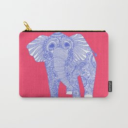 ornate Ellie in blue Carry-All Pouch
