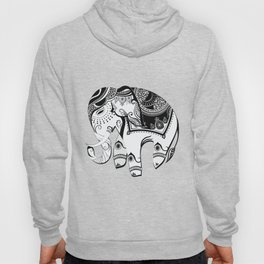 Abstract Design Indian Elephant Hoody
