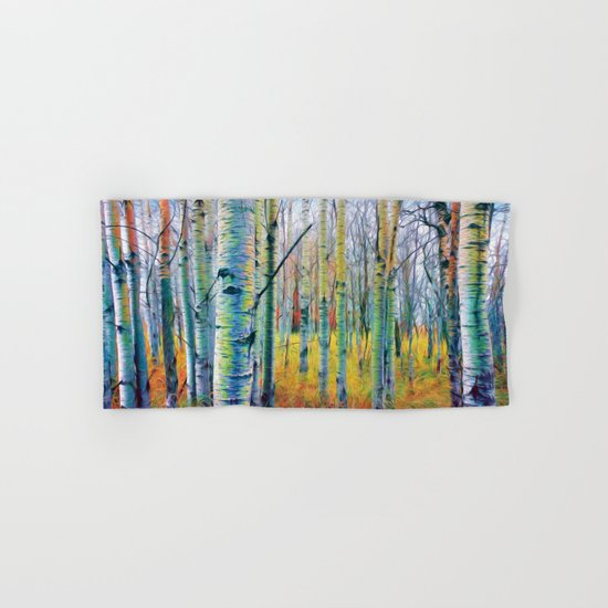 Aspen Trees in the Fall Hand & Bath Towel