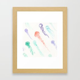 Jellyfish festival Framed Art Print