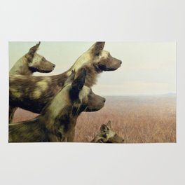 Hi, we are the wild dogs Rug