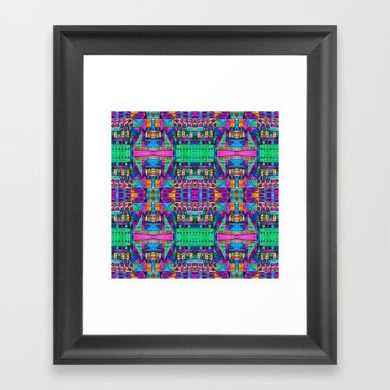 Tribal Patchwork II Pink Framed Art Print