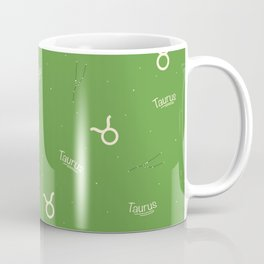 Taurus Pattern - Green Coffee Mug