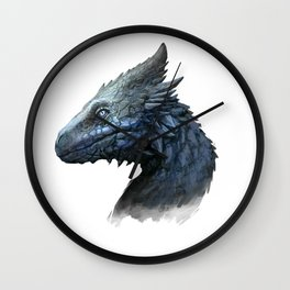 Sapphire Dragon Wall Clock