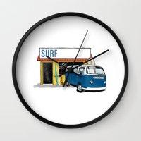 surf Wall Clocks featuring Surf by Blake Smisko
