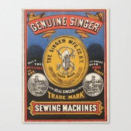 Vintage poster - Singer Sewing Machine Canvas Print