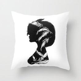 Owlphelia Silhouette Throw Pillow