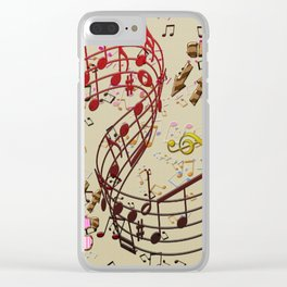 Musica y Baile Clear iPhone Case