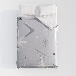 Vintage 1950s Boomerangs Stars Silver Comforters
