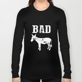 Bad Ass Funny Humor Party Drinking Black Basic Badass T-Shirts Long Sleeve T-shirt