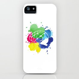 School Psychologist with Brain iPhone Case