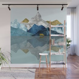 Into The Wild North Blues Wall Mural