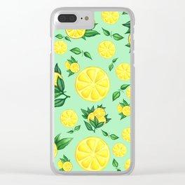 LEMON #1 Clear iPhone Case
