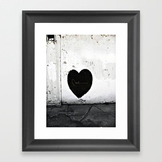 Street Heart Framed Art Print