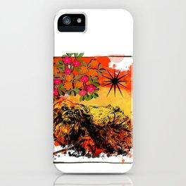Pekingese pop art iPhone Case