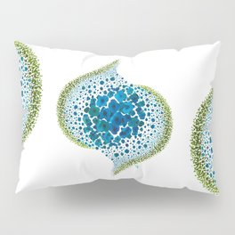 Paths of Color [Turquoise, Blue and Green] Pillow Sham