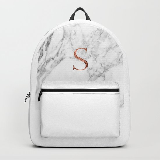 Monogram rose gold marble S by marbleco