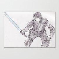 luke hemmings Canvas Prints featuring Luke by jamestomgray