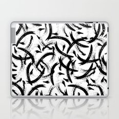 Isobel - Black and white minimal modern urban city brooklyn abstract painting art design hipster Laptop & iPad Skin