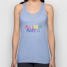 Rainbow Henna Zendoodle All Lives Matter! Unisex Tank Top