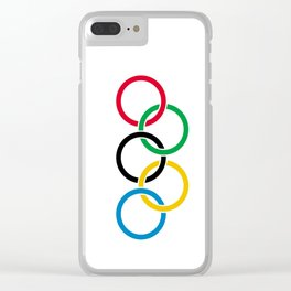 Flag of olympics games-olympic,olympic game,sport,coubertin, circles,medal,fun,international Clear iPhone Case