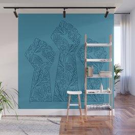 Resist Fist Pattern Wall Mural