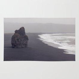 Black beach Rug
