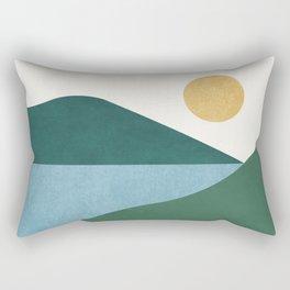 Sunny Lake - Abstract Landscape Rectangular Pillow