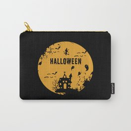 Halloween Witches Bats Ghosts Orange Costume Carry-All Pouch