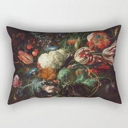 Jan Davidsz de Heem - Vase of Flowers Rectangular Pillow