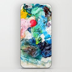 Rainbow Earth Paint Moon Love iPhone & iPod Skin