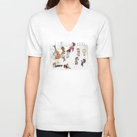 the royal tenenbaums V-neck T-shirts featuring O Tenenbaums! by JessLane