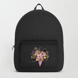 Roses in Rose Gold Waffle Horn Backpack